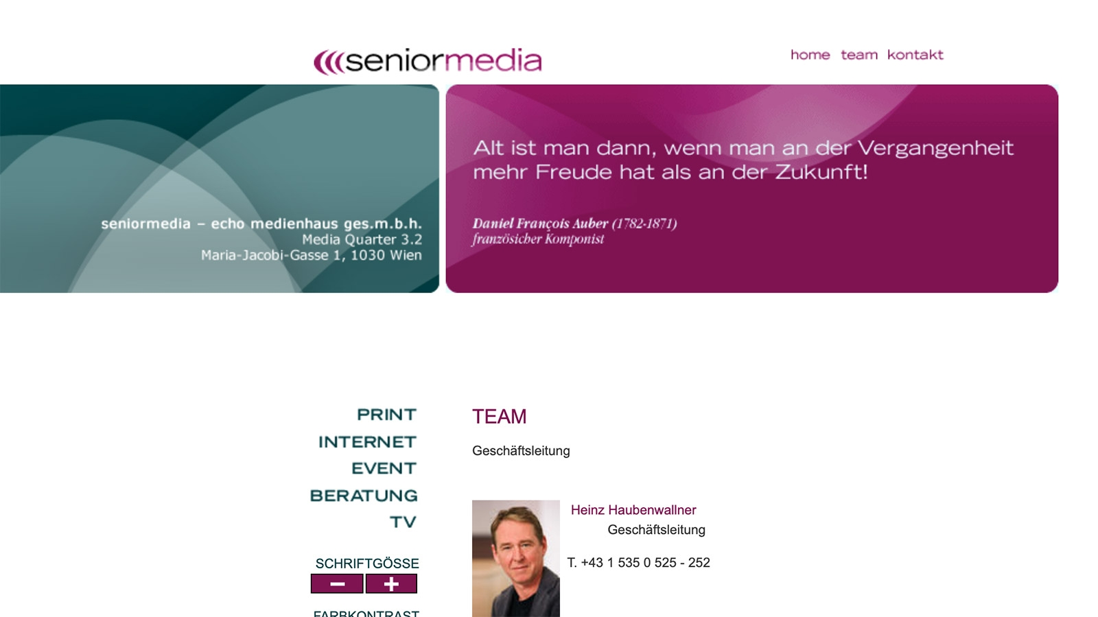Senior Media | seniormedia.at | 2007 (Screen Only 01) © echonet communication